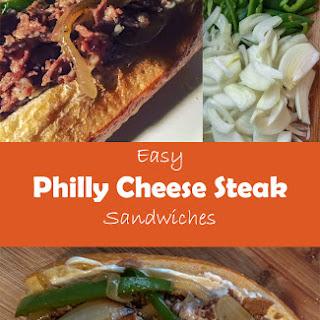 Easy Philly Cheese Steak Sandwich.