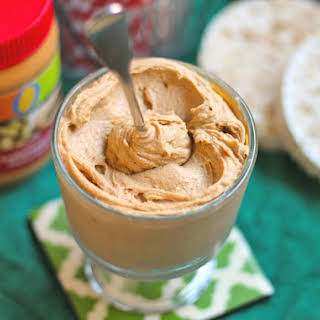 Healthy Homemade Protein-Packed Peanut Butter Spread (sugar free, low carb, low fat, vegan).