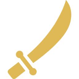 刀のアイコン素材