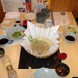 dinner at torafugutei in Shibuya in Tokyo, Tokyo, Japan