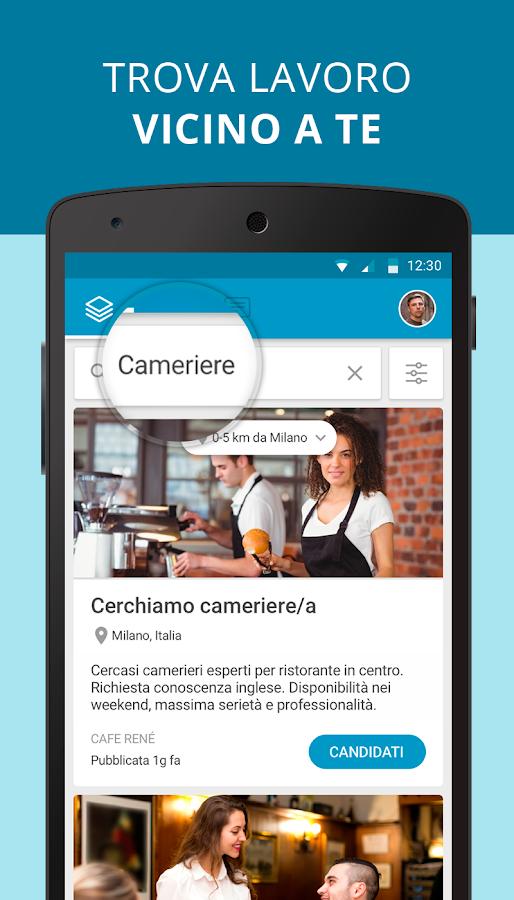 Cornerjob offerte di lavoro e recruiting app android for Subito offerte di lavoro roma