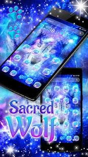 Sacred Wolf Launcher Theme - náhled