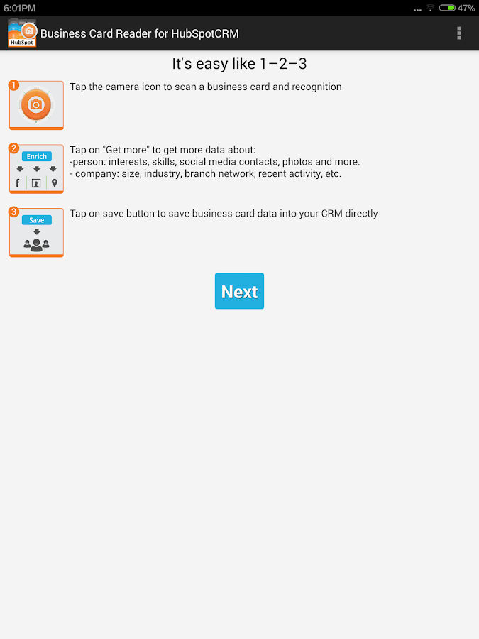 Business Card Reader for HubSpot CRM - Android Apps on Google Play