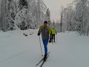 Photo: Юра и Оля на трассе в Апатитах