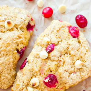White Chocolate Cranberry Bliss Scones