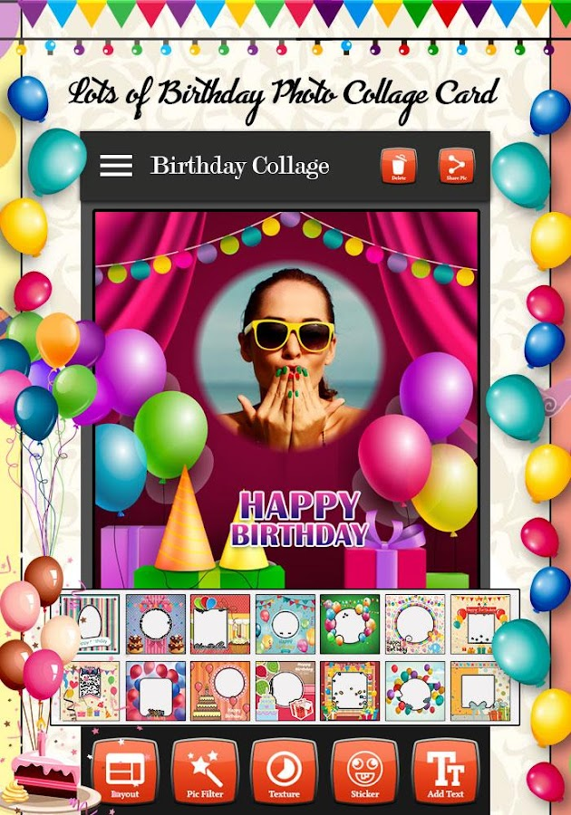 Birthday Photo Collage Maker Android Apps on Google Play – Birthday Card Collage