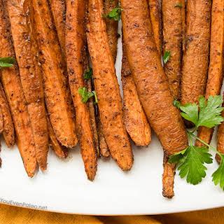 Cinnamon Cumin Roasted Carrots.