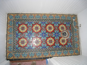 "Photo: Malibu Tile Works - Bathroom Tile ""Rug"" - Private Residence - Malibu, CA"