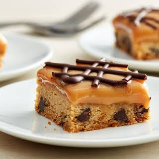 Salted Caramel Chocolate Chip Cookie Bars.