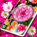 Flowers Blossoms Clock 🌺 Flower Themes Wallpaper icon