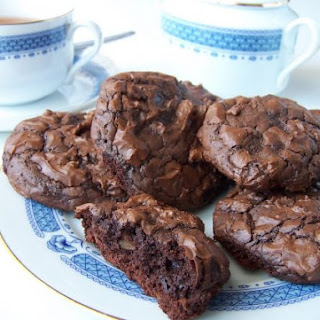 Chocolate, Coffee and Nut Cookies