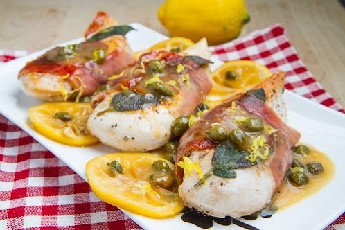 Skinny Chicken Saltimbocca