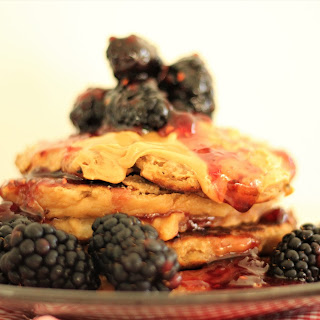 Peanut Butter and Jelly Pancakes.