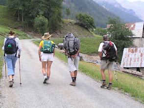 Photo: Ascension de l'aiguille d'Orcières sur la ligne de départ: Catherine, Mica, Alain, Roger.