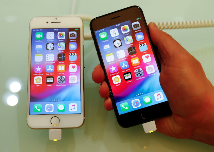 Apple's iPhone 7 and 8 in a store in Berlin, Germany, January 3 2019. Picture: REUTERS/FABRIZIO BENSCH
