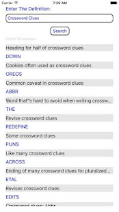 Crossword Solver Clue