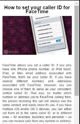 android Guide For Facetime video chat Screenshot 1