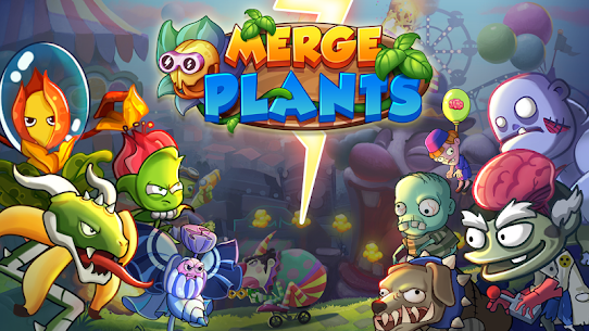 Merge Plants: Zombie Defense MOD (Unlimited Diamonds/No Ads) 1