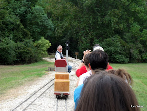 Photo: Ken Smith with signals waiting for us to pass to follow us to see if the signals are working.     HALS 2009-0919