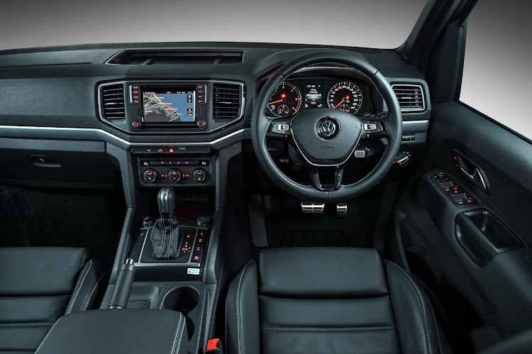 Electric front seats are seemingly lifted straight from the Amarok's Golf 7.5 GTI and R siblings.