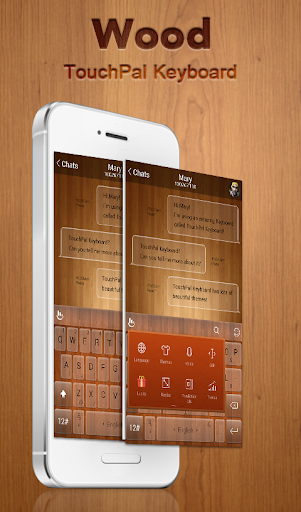 Pure Wooden Keyboard Theme