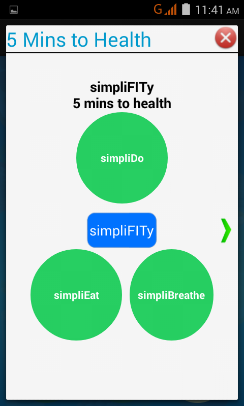 simpliFITy - 5 min to health- screenshot
