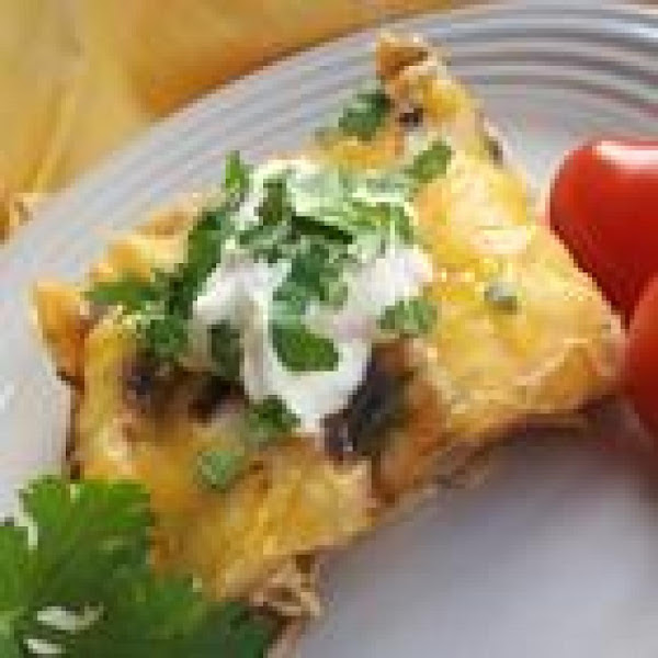 Chicken & Green Chile Enchilada Casserole Recipe