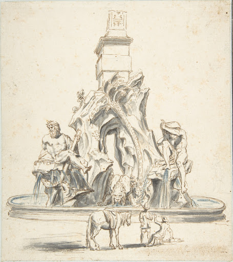 Bernini's Fountain of the Four Rivers in Piazza Navona, Rome.