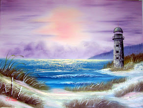 Photo: Seascape with Lighthouse.