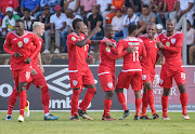 FILE IMAGE: Free State Stars celebrating their goal during the 2018 Nedbank Cup last 16 game between Free State Stars and Chippa United at Goble Park, Free State on 10 March 2018.
