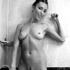 Shower Fun by ObjeKtiva Artphoto - Nudes & Boudoir Artistic Nude ( water, body, model, nude, monochrome, black and white, art, intense, sensuality, beauty, fun, sensual, glamour, sexy, flameofsun, artnudes, shower, nudes )