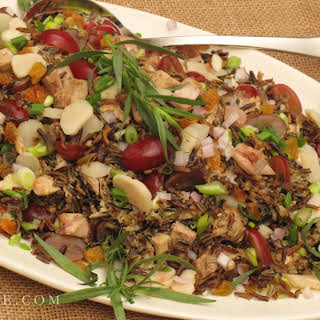 Turkey Wild Rice Salad with Tarragon and Grapes.