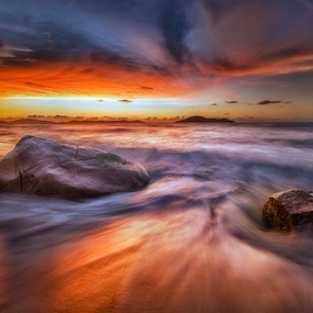 Waves on the beach  by Dany Fachry - Landscapes Beaches
