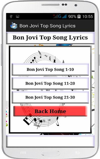 Bon Jovi Top Song Lyrics