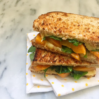 Summer Grilled Cheese with Apricot and Arugula