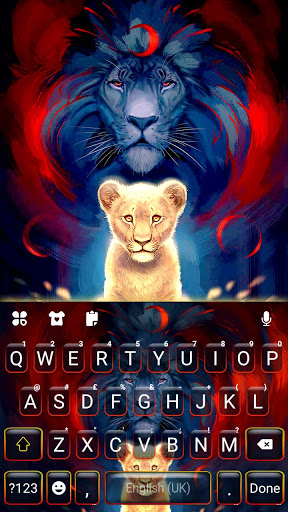 Wild Lion Keyboard Background screenshot 5