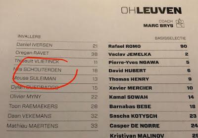Nils Schouterden stond ineens op het wedstrijdblad van OH Leuven