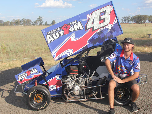 Narrabri speedway racer James Rodd is one of the driving forces behind Racing for Autism.