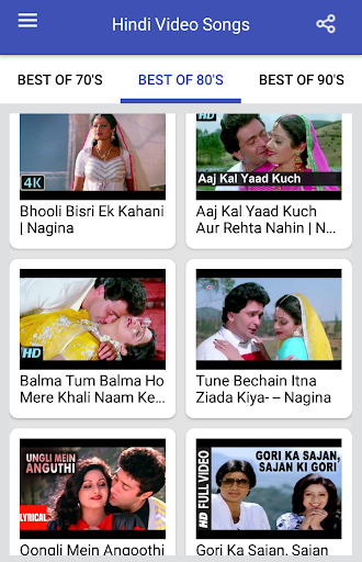 Hindi Video Songs : Best of 70s 80s 90s 1.0.5 screenshots 16