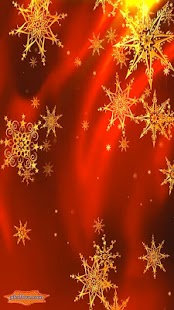 Golden Xmas Stars Whirl 3D- screenshot thumbnail