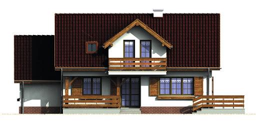 Dom przy Szarotek - Elewacja tylna