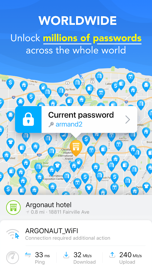 WiFi Map -Adgangskoder Gratis – screenshot