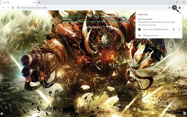 Warhammer HD Wallpapers New Tab Theme
