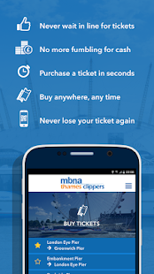 MBNA Thames Clippers Tickets- screenshot thumbnail