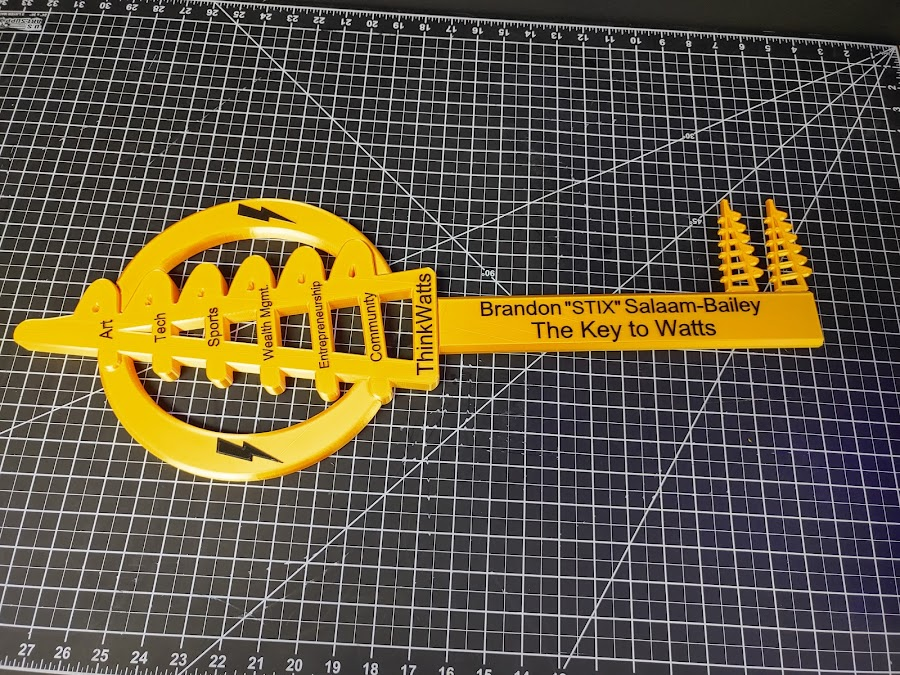 3D Printed Key to the City of Watts