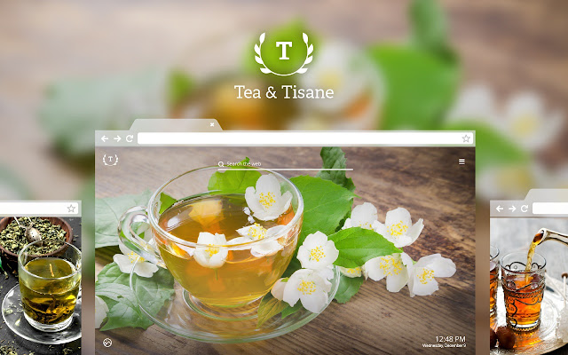 Tea & Tisane HD Wallpaper New Tab Theme