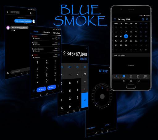 Blue Smoke EMUI 5/8/9 Theme 2.5 screenshots 2