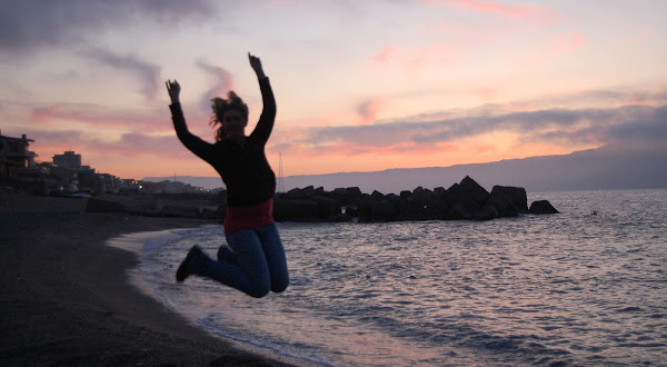Jumping Shot on the Beach in Messina Sicily