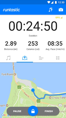 Runtastic PRO Running, Fitness Android App Screenshot