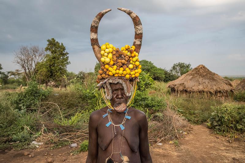 Donna Mursi, Etiopia 2016. di Cristhian Raimondi